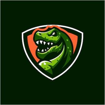 Trex логотип дизайн иллюстрация