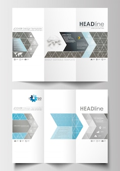 Три раза брошюра бизнес-шаблоны с обеих сторон.