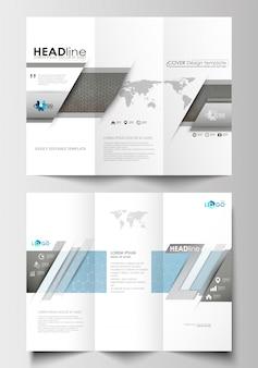 Три раза брошюры бизнес-шаблоны с обеих сторон