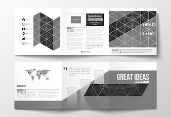 三つ折りのデザインパンフレット