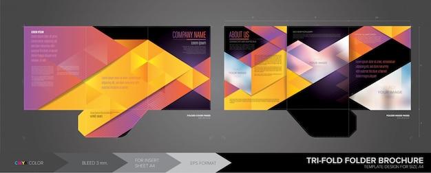 Tri-fold folder template