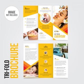 Tri-fold брошюра листовка