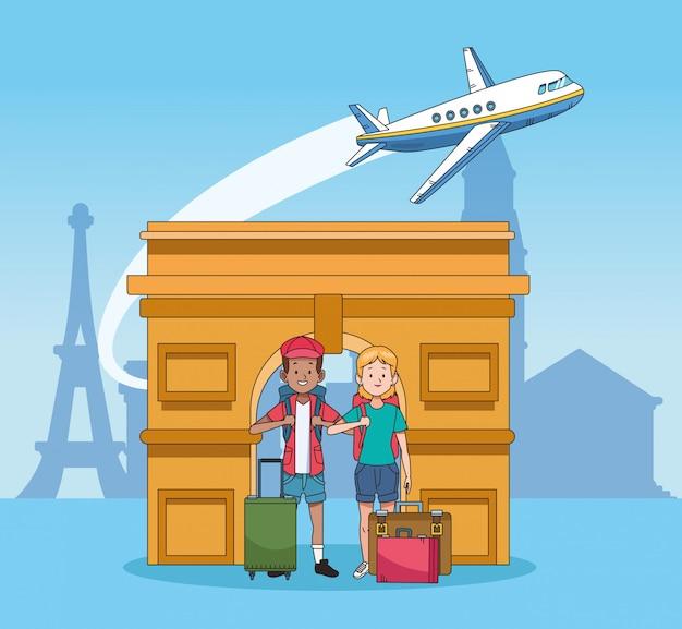 Tri旋門と世界旅行デザイン