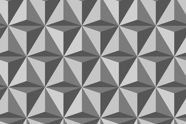 Triangle 3d geometric pattern vector grey background in modern style