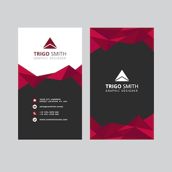 Triangle abstract business card