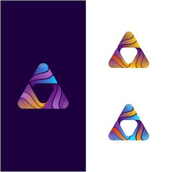 三角形の抽象的なロゴのデザイン