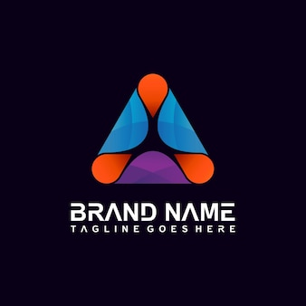Triangle abstract logo design