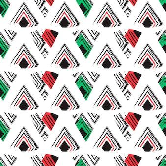 三角抽象的なシームレスパターン