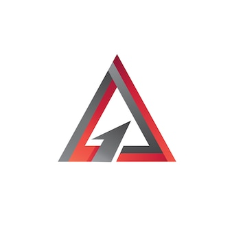 Triangle arrow logo vector