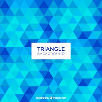 Triangle background in blue color