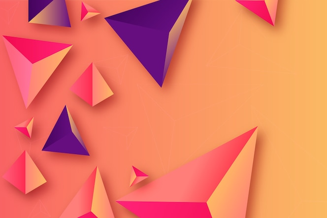 Triangle background with intense colors