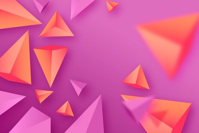 생생한 색상의 삼각형 배경