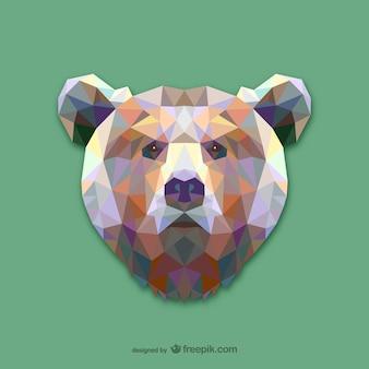 三角形のクマのデザイン