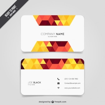 Triangle business card Free Vector