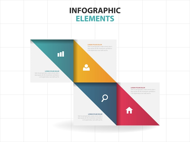 Triangle business infographics elements