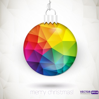 Triangle christmas decorations vector background