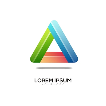 Triangle colorful logo illustration
