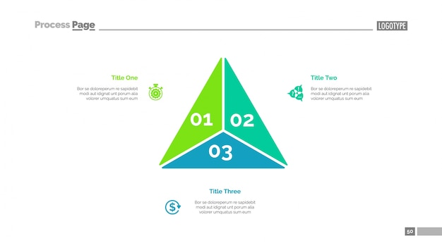 Triangle diagram slide template
