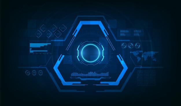 Triangle futuristic hud concept. sci-fi technology