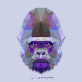 Triangle gorilla design
