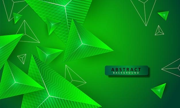 Треугольник зеленый фон