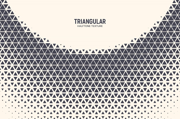 Triangle halftone abstract technology background