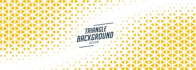 黄色と白の色合いの三角形ハーフトーンバナー