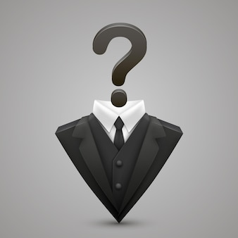 Triangle jacket question art creative. vector illustration