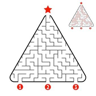 Треугольник лабиринт рабочий лист для детей