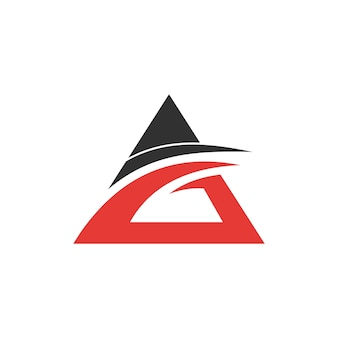 Triangle letter ag free logo design