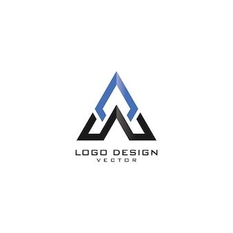 A triangle logo design