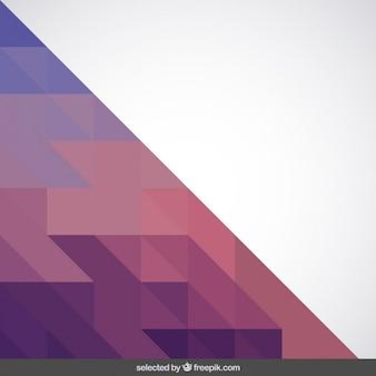 Triangolo fatto con triangoli toni viola e rosa