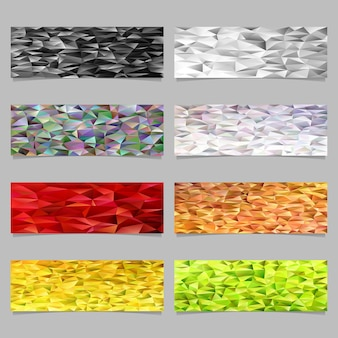 Triangle mosaic banner background template set