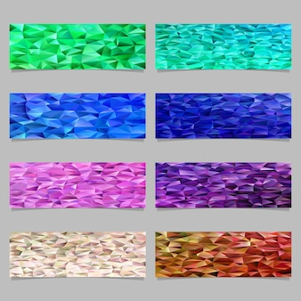 Triangle mosaic banner template background set
