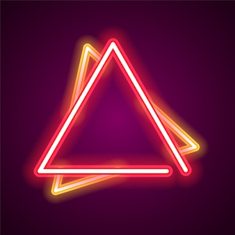 Triangle neon banner.