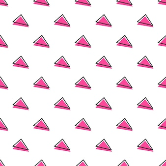 Triangle pattern, abstract geometric background in 80s, 90s retro style. colorful geometrical illustration