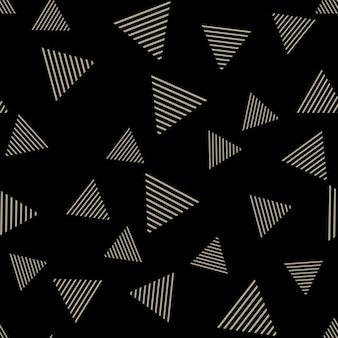 삼각형 패턴, 추상적인 기하학적 배경입니다. 창의적이고 고급스러운 스타일의 일러스트레이션