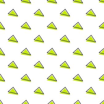 Шаблон треугольника, абстрактные геометрические фон в стиле ретро 80-х, 90-х годов. красочная геометрическая иллюстрация