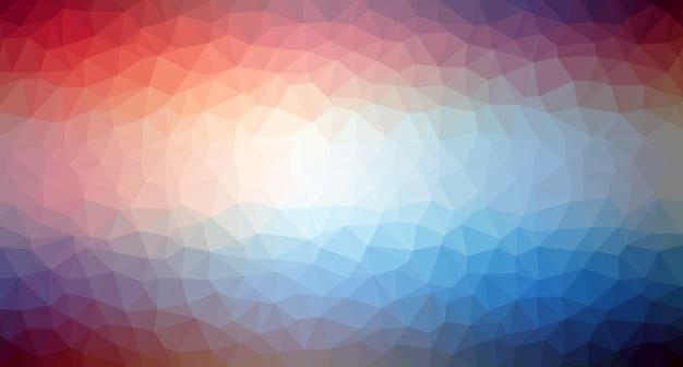 行の三角形のパターンの背景カラフルなモザイクバナーベクトル図