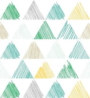 삼각형 패턴입니다. 기하학적 간단한 배경입니다. 창의적이고 우아한 스타일의 일러스트레이션