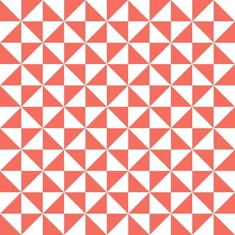 리빙 코랄 컬러의 트라이앵글 패턴. 추상적인 기하학적 배경입니다. 2019년 올해의 컬러. 고급스럽고 우아한 스타일의 일러스트레이션