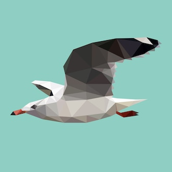 Triangle polygonal seagull