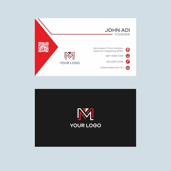 Triangle red business card design