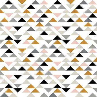 Бесшовный узор из треугольника. современный абстрактный геометрический фон с треугольниками. принт в скандинавском стиле.