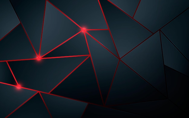 Triangle shape black background with red sparkling light