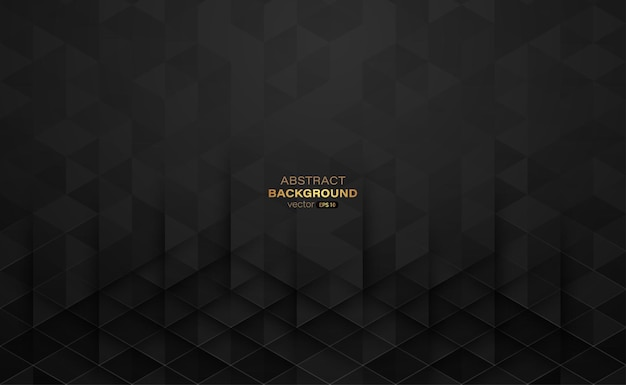 Triangle shape with black color gradient and lines abstract background