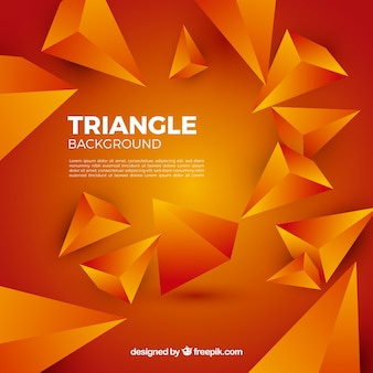 Triangles background in orange color