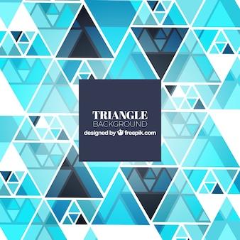グラデーションブルースを持つ三角形の背景