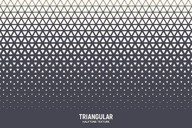 Triangles halftone pattern abstract geometric background