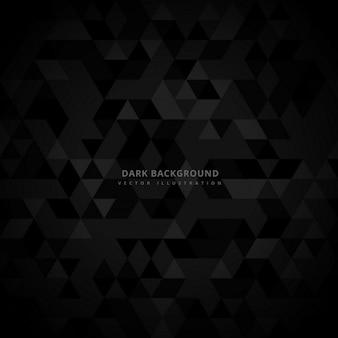 Абстрактный trianglulated темный фон
